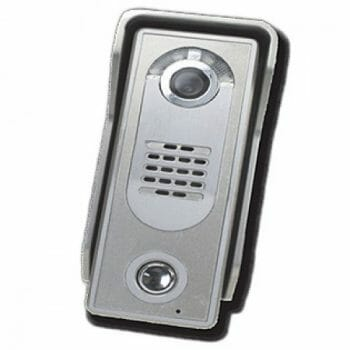Colour video entry phone in brushed silver finish